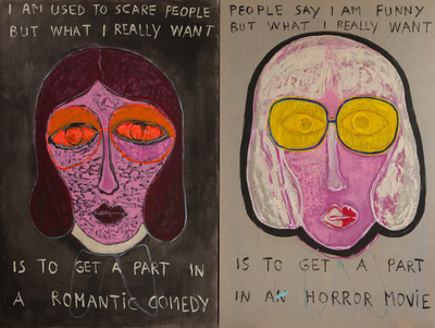 Benoit Delhomme - My Hollywood - I am used to scare people, 260 x195 cm, Acrylics on canvas