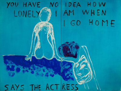 Benoit Delhomme - My Hollywood - You have no idea how lonely i am when i go home, 260 X 195 cm, Acrylic on canvas